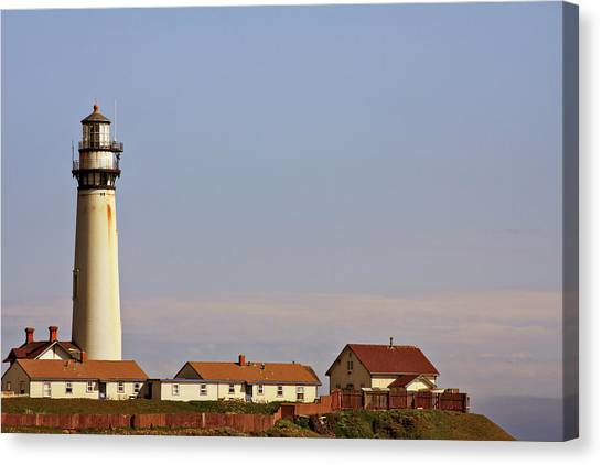 Pigeon Canvas Print - Pigeon Point Lighthouse On California's Pacific Coast by Christine Till