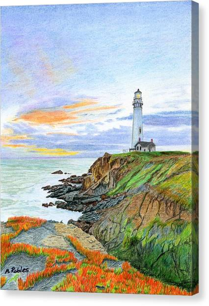 Pigeon Point Sunset Canvas Print