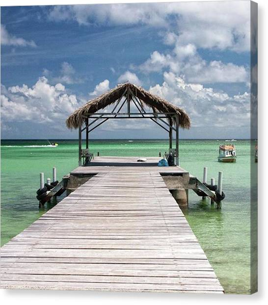 Seas Canvas Print - Pigeon Point, Tobago#pigeonpoint by John Edwards
