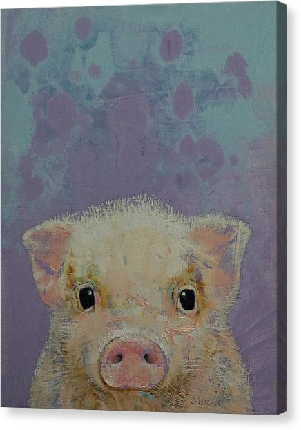 Hogs Canvas Print - Piglet by Michael Creese