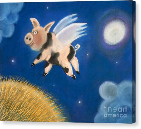 Pigs Might Fly Canvas Print