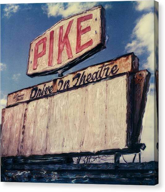 Pike Drive-in Canvas Print by Steven  Godfrey