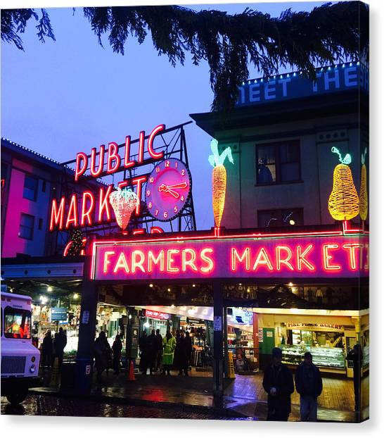 Seattle Canvas Print - Pike Place Market by Anthony Grayson