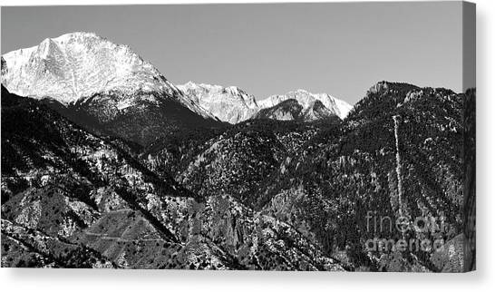 Pikes Peak And Incline 36 By 18 Canvas Print