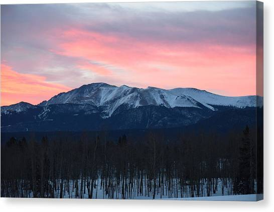 Sunrise Pikes Peak Co Canvas Print
