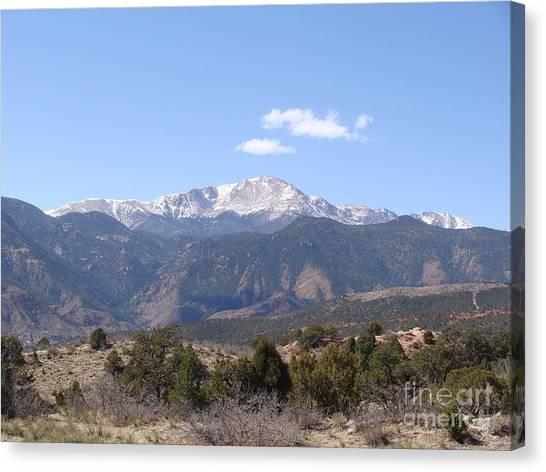 Pikes Peak Colorado One Canvas Print