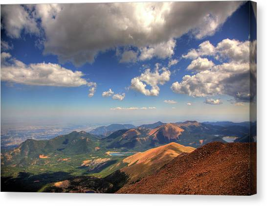 Pikes Peak Summit Canvas Print