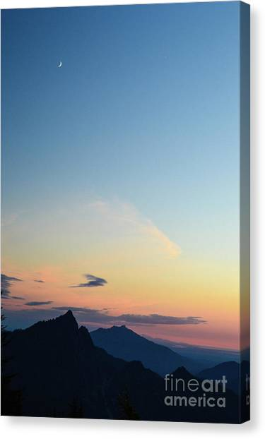 Pilchuck Sunset Canvas Print