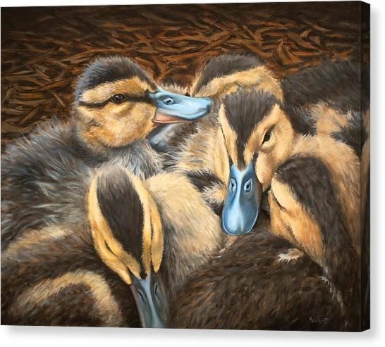Pile O' Ducklings Canvas Print