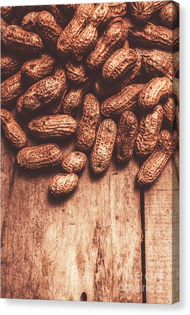 Vegetarian Canvas Print - Pile Of Peanuts Covering Top Half Of Board by Jorgo Photography - Wall Art Gallery