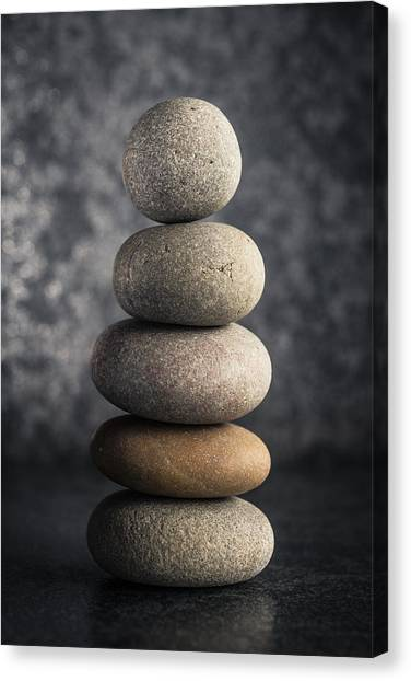 Mystic Setting Canvas Print - Pile Of Pebbles by Marco Oliveira