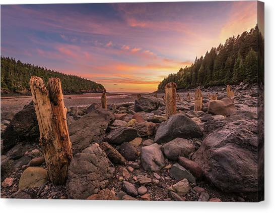 Pilings At Point Wolfe Canvas Print