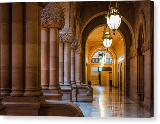 Pillar Hallway Canvas Print