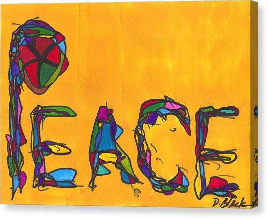 Pillar Of Peace Canvas Print by Darrell Black