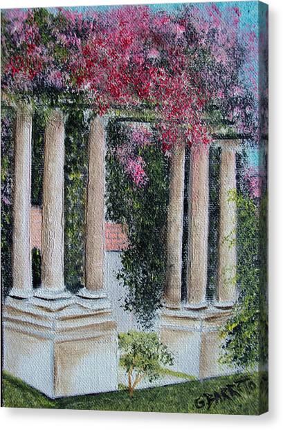 Pillars In The Garden Canvas Print