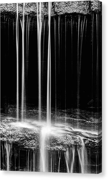 Pillsbury Falls Details Canvas Print by JC Findley