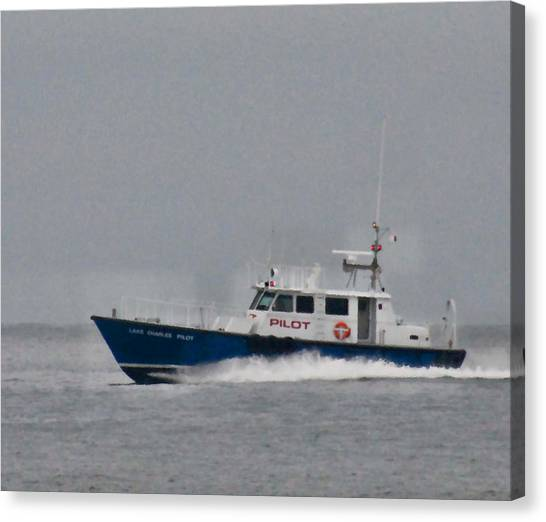 Pilot Boat Canvas Print by Bill Perry