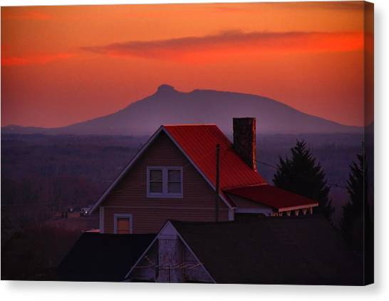 Pilot Sunset Overlook Canvas Print