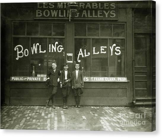 Bowling Pins Canvas Print - Pin Boys 1915 by Jon Neidert