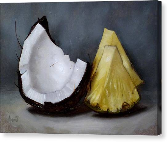 Pineapples Canvas Print - Pina Colada Night by Clinton Hobart