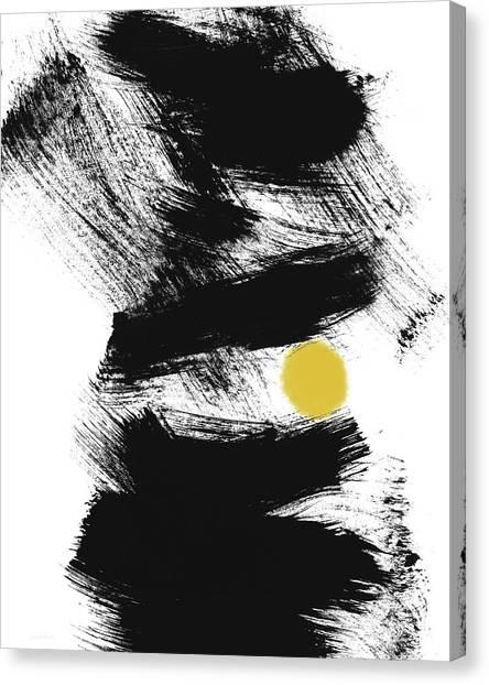 Brush Stroke Canvas Print - Pinball- Art By Linda Woods by Linda Woods