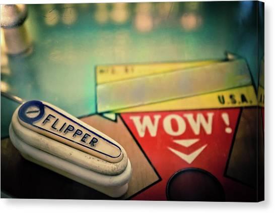 Flipper Canvas Print - Pinball - Flipper by Colleen Kammerer