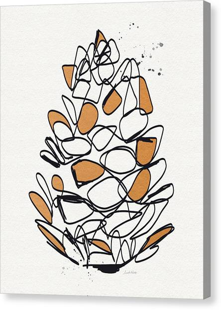 Thanksgiving Canvas Print - Pine Cone- Art By Linda Woods by Linda Woods