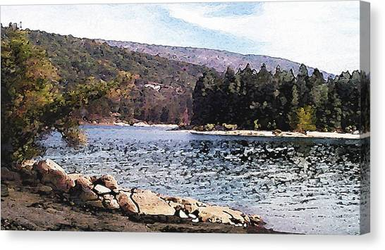 Pine Point Bass Lake Larry Darnell Canvas Print by Larry Darnell