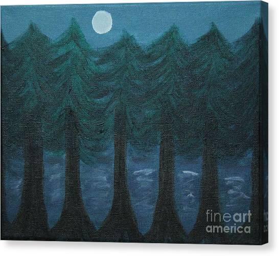 Pine Tree Lake Canvas Print
