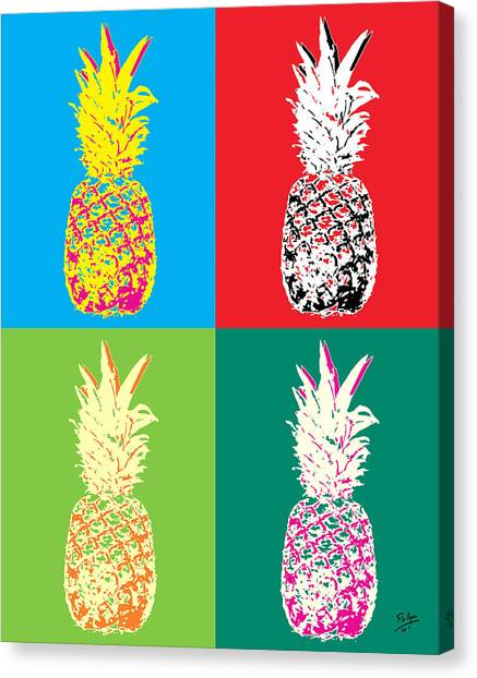 Pineapples Canvas Print - Pineapple 33 by Flo Ryan