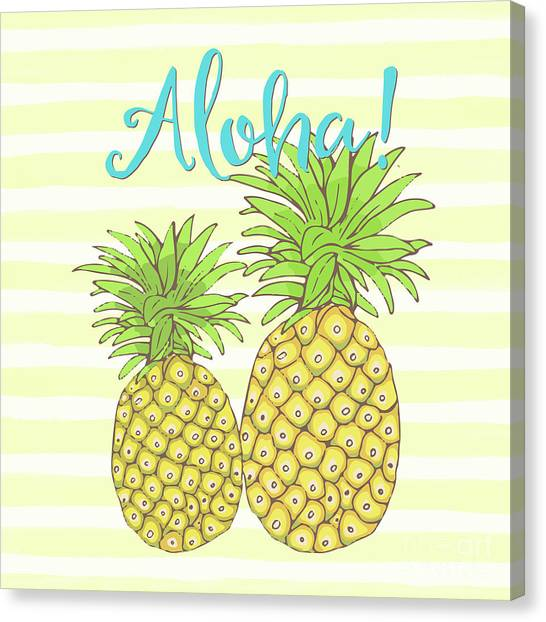 Pineapples Canvas Print - Pineapple Aloha Tropical Fruit Of Welcome Hawaii by Tina Lavoie