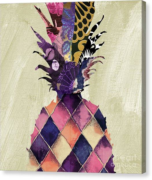 Pineapples Canvas Print - Pineapple Brocade II by Mindy Sommers