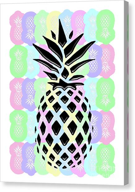 Pineapples Canvas Print - Pineapple Collage by L Bee