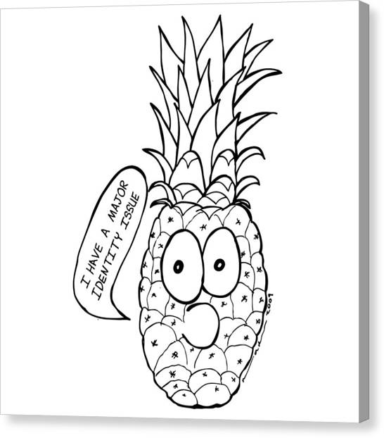 Pineapple Issue Canvas Print by Karl Addison