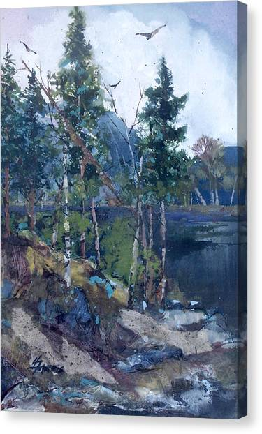 Pinelake  Canvas Print