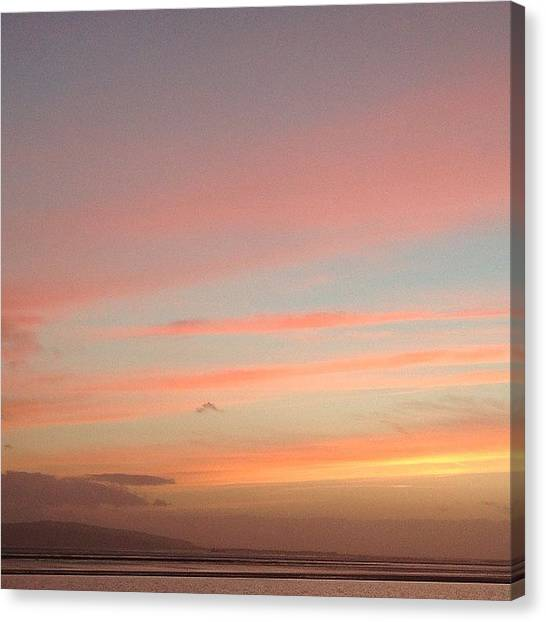 Kirby Canvas Print - Pink And Blue #sunset #skyscape by Helen Smith