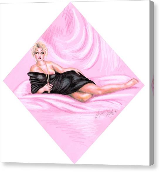 Pink Allure Canvas Print by Scarlett Royal
