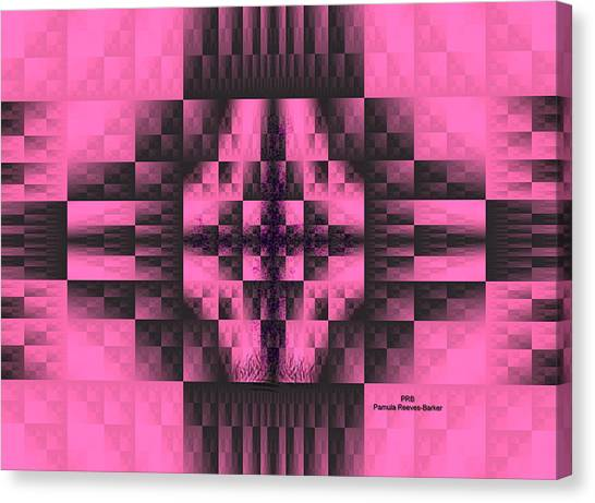 Canvas Print - Pink And Black Grace by Pamula Reeves-Barker