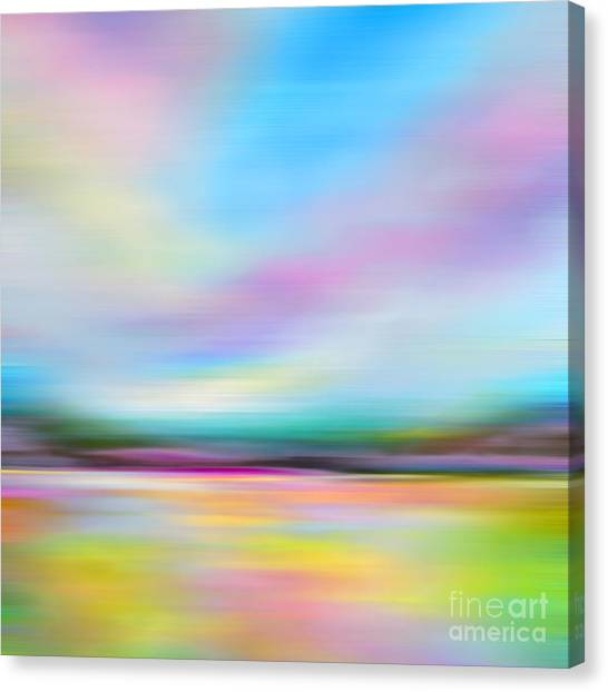 Pink And Blue Landscape Canvas Print