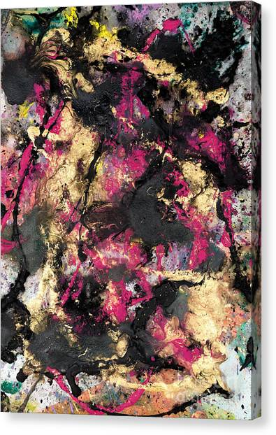 Pink And Gold Merge Canvas Print