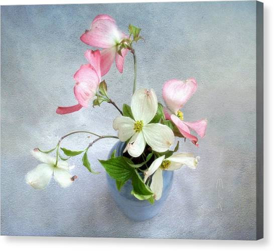 Pink And White Dogwood Still Canvas Print