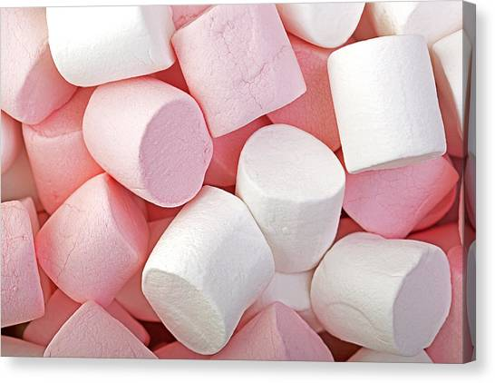Junk Canvas Print - Pink And White Marshmallows by Jane Rix