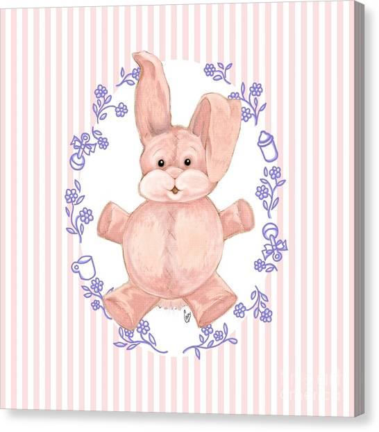 Pink Baby Bunny Canvas Print