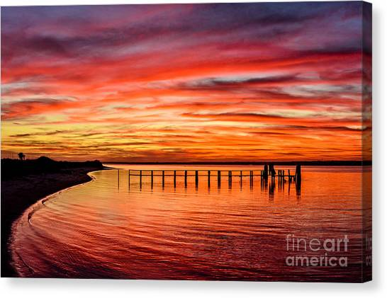 Pink Bay Canvas Print