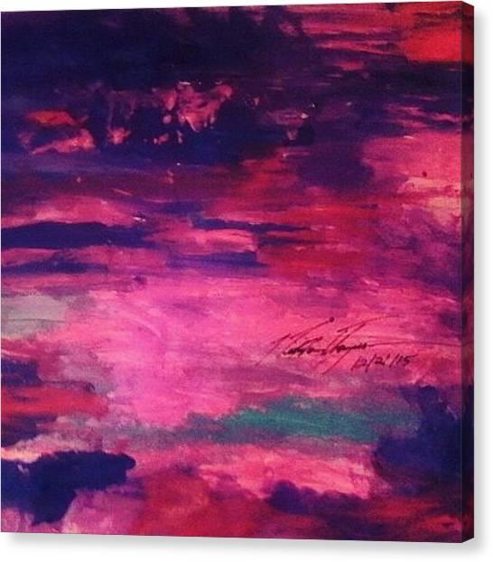 God Canvas Print - Pink Beauty Sunset by Love Art Wonders By God