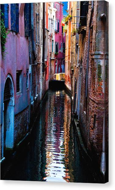 Pink Canal Canvas Print