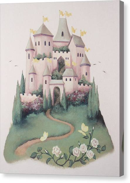 Pink Castle Canvas Print