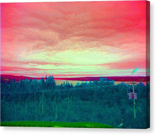 Pink Clouds Canvas Print by Allison Prior