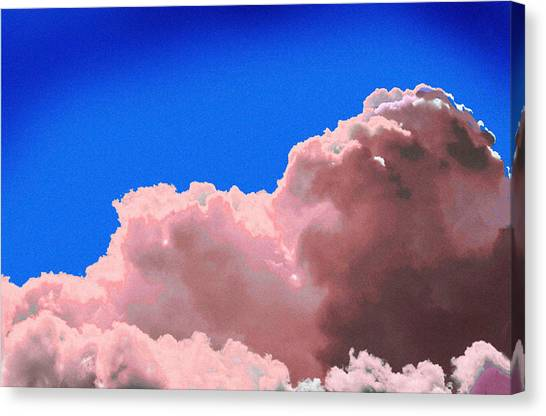 Pink Cluod Canvas Print by John Toxey