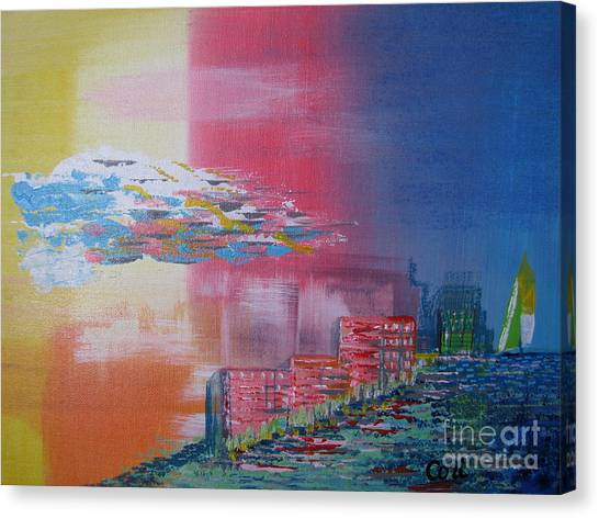 Pink Coast Canvas Print